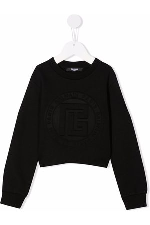 Balmain Kids Mädchen Shirts - Embossed-logo sweatshirt