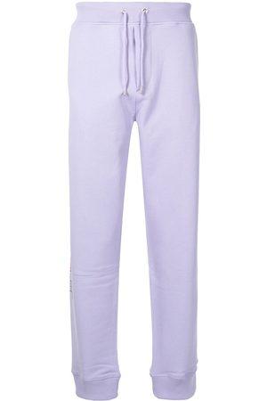 Helmut Lang 3D logo cotton track pants