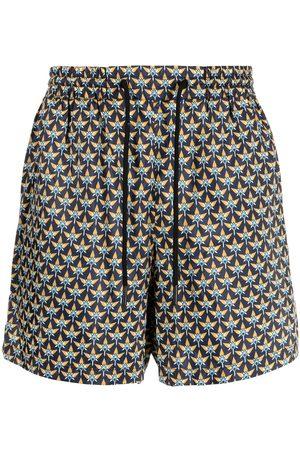 Paco rabanne Geometric-print track shorts