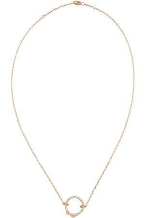 Repossi Damen Halsketten - Halskette Antifer aus 18kt Rosé mit Diamanten