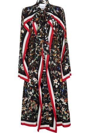 Burberry Damen Freizeitkleider - Bedrucktes Midikleid aus Seide