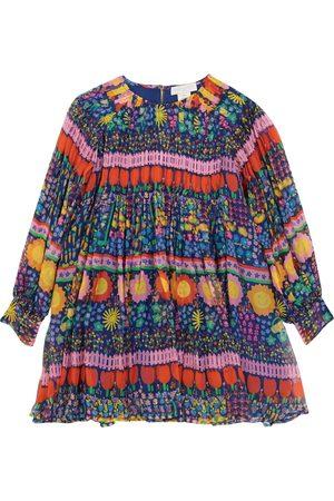 STELLA McCARTNEY Kids Bedrucktes Kleid aus Seiden-Georgette