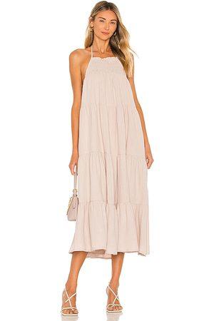 Tularosa Damen Midikleider - Nora Midi Dress in - Neutral. Size L (also in XXS, XS, S, M, XL).
