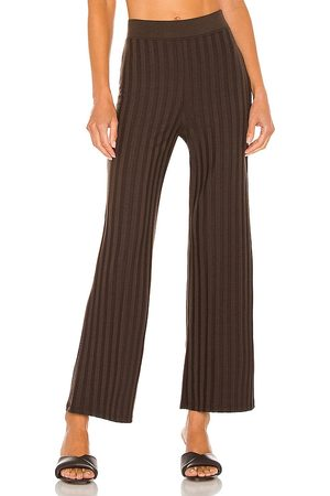 JONATHAN SIMKHAI Celia Compact Rib Cropped Wide Leg Pant in - . Size L (also in XS, S, M).