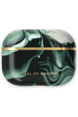 IDEAL OF SWEDEN Handy - Fashion AirPods Case Pro Golden Olive Marble