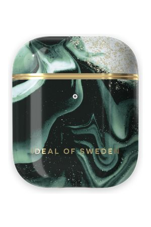 IDEAL OF SWEDEN Handy - Fashion AirPods Case Golden Olive Marble