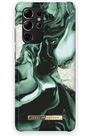 IDEAL OF SWEDEN Handy - Fashion Case Galaxy S21 Ultra Golden Olive Marble