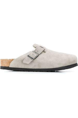 Birkenstock Suede shearling lined slippers