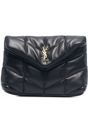 Saint Laurent Small Puffer quilted clutch