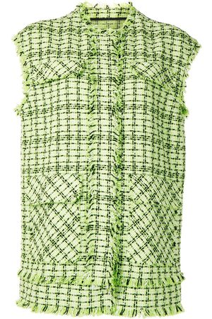 MSGM Sleeveless tweed jacket