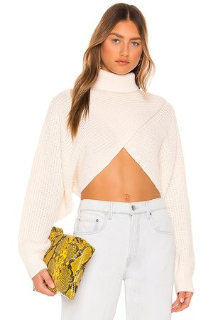 Msgm Crop Sweater in - Ivory. Size L (also in XS, S, M).