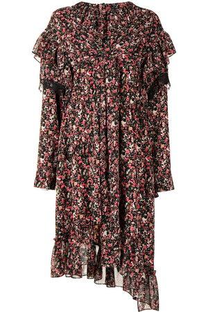 Goen.J Floral-print asymmetric dress
