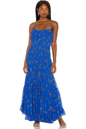 Free People Cloud Nine Maxi Dress in - Blue. Size L (also in M, S, XS).