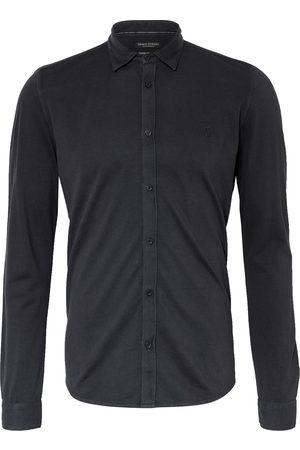 Marc O'Polo Piqué-Hemd Shaped Fit schwarz