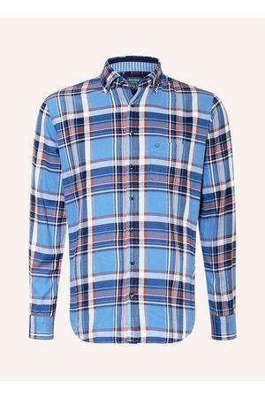 Olymp Flanellhemd Casual Modern Fit blau