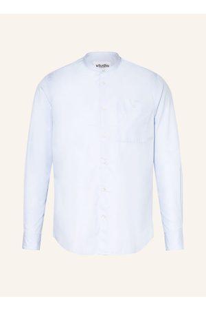 Seidensticker Hemd Regular Fit Mit Stehkragen blau