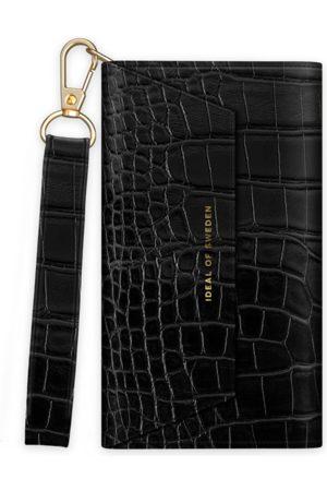 IDEAL OF SWEDEN Damen Clutches - Cassette Clutch iPhone 8 Black Croco