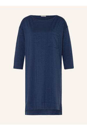 Mey Damen Nachthemden - Nachthemd Serie Liah Mit 3/4-Arm blau