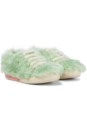 The Animals Observatory Sneakers Bunny aus Faux Fur