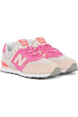 New Balance Kids Mädchen Sneakers - Sneakers 574 aus Veloursleder