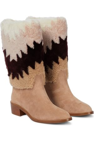 Aquazzura Ankle Boots Nomade 45 mit Shearling