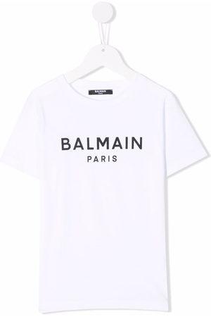 Balmain Jungen Shirts - Logo crew-neck T-shirt
