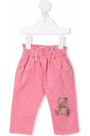 Miss Blumarine Teddy bear-print straight trousers