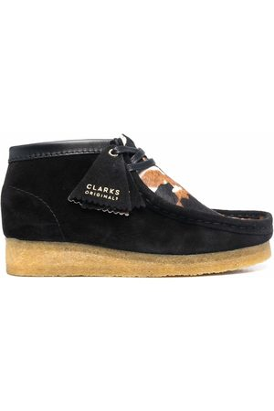 Clarks Wallabee cow-print suede shoes