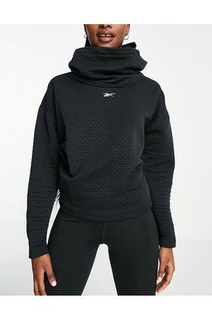 Reebok Hoodie with neck detail in black