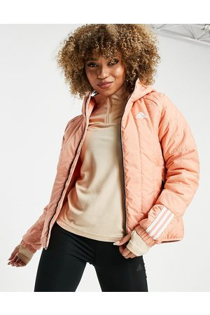 adidas performance Adidas Outdoor Itavic hooded light puffer jacket in pink