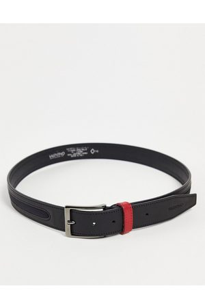 Valentino Bags Fir belt in black with red loop