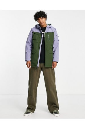 Vans Elevated MTE parka in green and blue