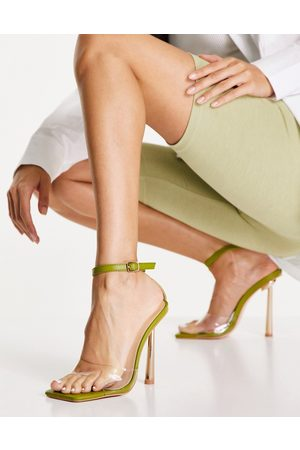 Public Desire Monroe heel sandals in olive-Green
