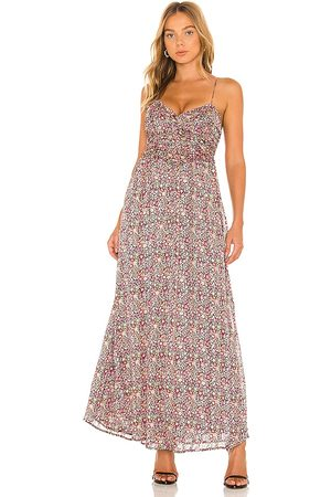 For Love & Lemons Joelle Maxi Dress in - Pink. Size L (also in M, S, XS).
