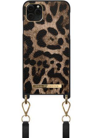 IDEAL OF SWEDEN Damen Handy - Atelier Necklace Case iPhone 11 Pro Max Midnight Leopard