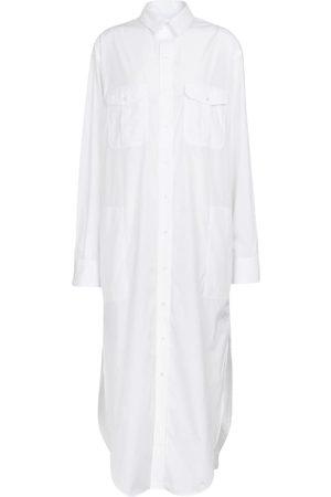WARDROBE.NYC Hemdblusenkleid aus Baumwollpopeline