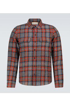 Saint Laurent Herren Freizeit - Hemd aus Wolle und Baumwolle