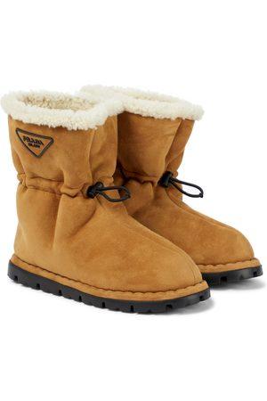 Prada Damen Stiefeletten - Schneestiefel Blow aus Veloursleder