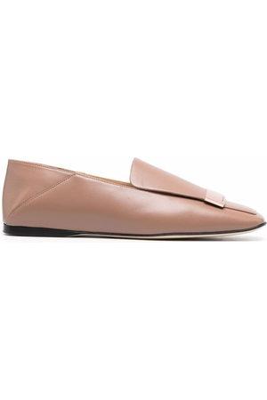 Sergio Rossi Damen Halbschuhe - Sr1 square-toe collapsible-heel loafers