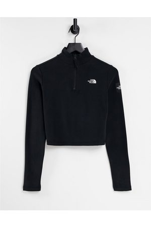 The North Face Black Box 1/4 zip long sleeve t-shirt in black