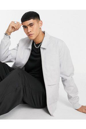 ASOS Essential harrington jacket in light grey