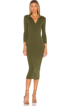 LINE & DOT Brittany Ribbed Midi Dress in - . Size L (also in M, S, XS).
