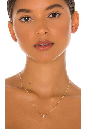 EF Collection Diamond Mini Peace Necklace in - Metallic . Size all.