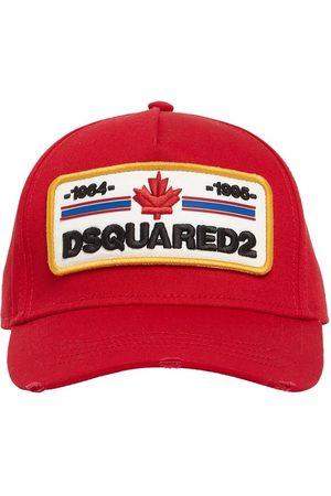 Dsquared2 Herren Caps - Kappe Aus Baumwollgabardine Mit Patch