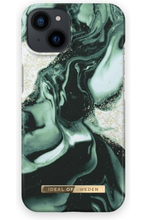 IDEAL OF SWEDEN Handy - Fashion Case iPhone 13 Golden Olive Marble