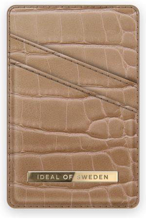 IDEAL OF SWEDEN Atelier Magnetic Card Holder Camel Croco