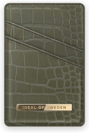 IDEAL OF SWEDEN Atelier Magnetic Card Holder Khaki Croco
