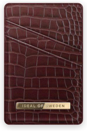 IDEAL OF SWEDEN Atelier Magnetic Card Holder Scarlet Croco