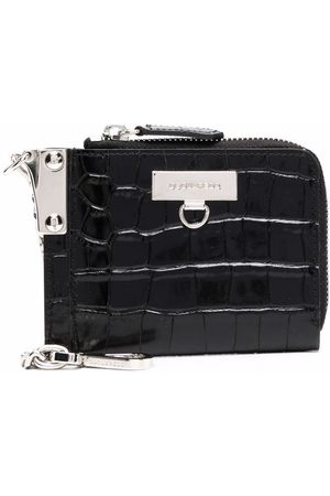 Dsquared2 Crocodile-embossed leather wallet