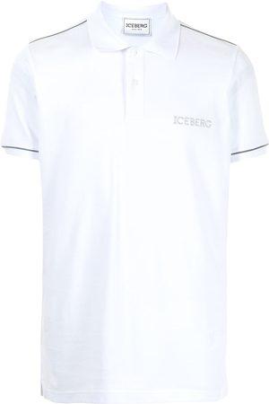 Iceberg Logo-embroidered cotton polo shirt